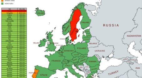 Semafor: Wysokie ryzyko zakażenia występuje już tylko w Szwecji